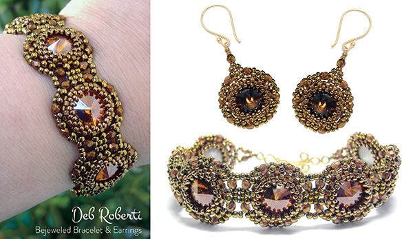 Bejeweled Bracelet & Earrings
