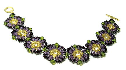 Crocus Garden Bracelet at AroundTheBeadingTable.com
