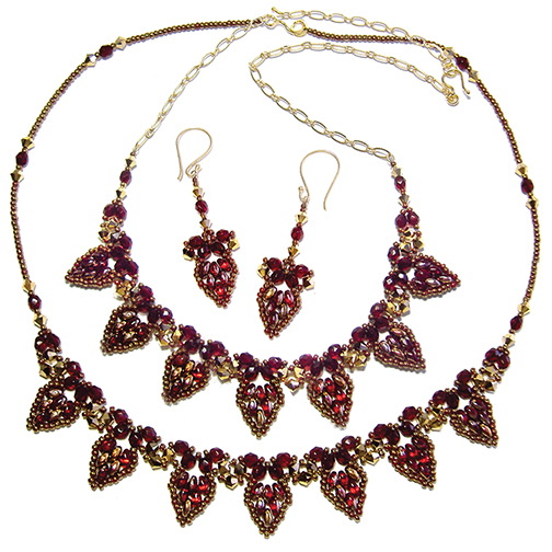 Drop Petal Necklace and Earrings