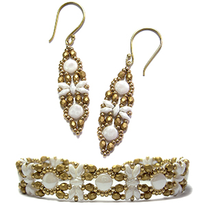 Filigree Bracelet and Earrings
