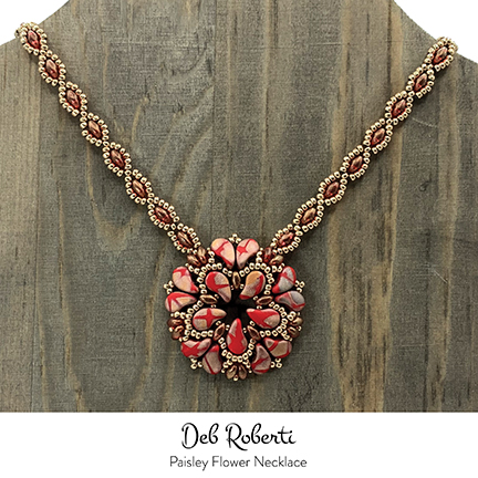 Paisley Flower Necklace