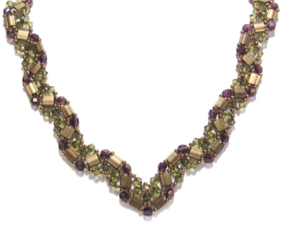 Purple Seed Bead Wire Crochet Necklace, Page 5