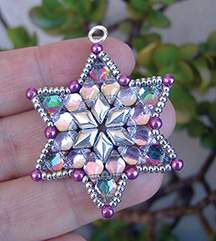 "DiamonDuo Star beaded up with ""backlit"" GemDuo beads"