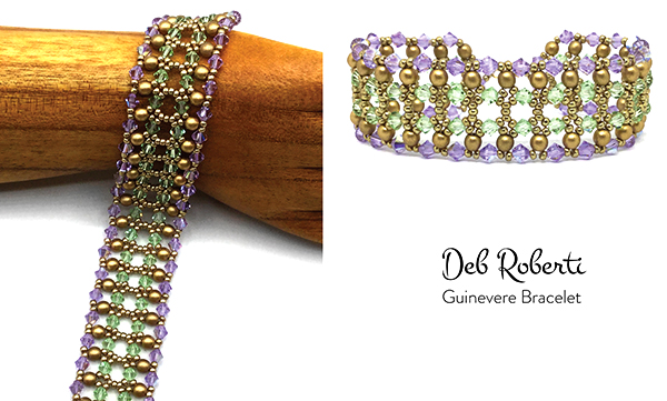 Guinevere Bracelet, free right-angle weave tutorial