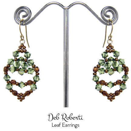 around the beading table free earring pattern the leaf