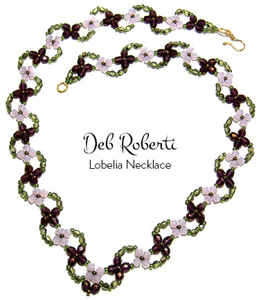 Around The Beading Table Free Beaded Crystal Necklace Pattern