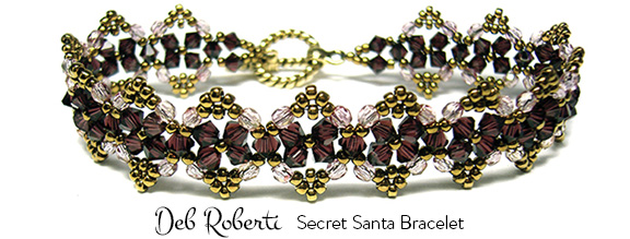 Secret Santa Bracelet, free at Deb Roberti's AroundTheBeadingTable.com