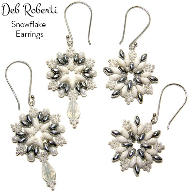 For my free snowflake earrings pattern just click on the picture
